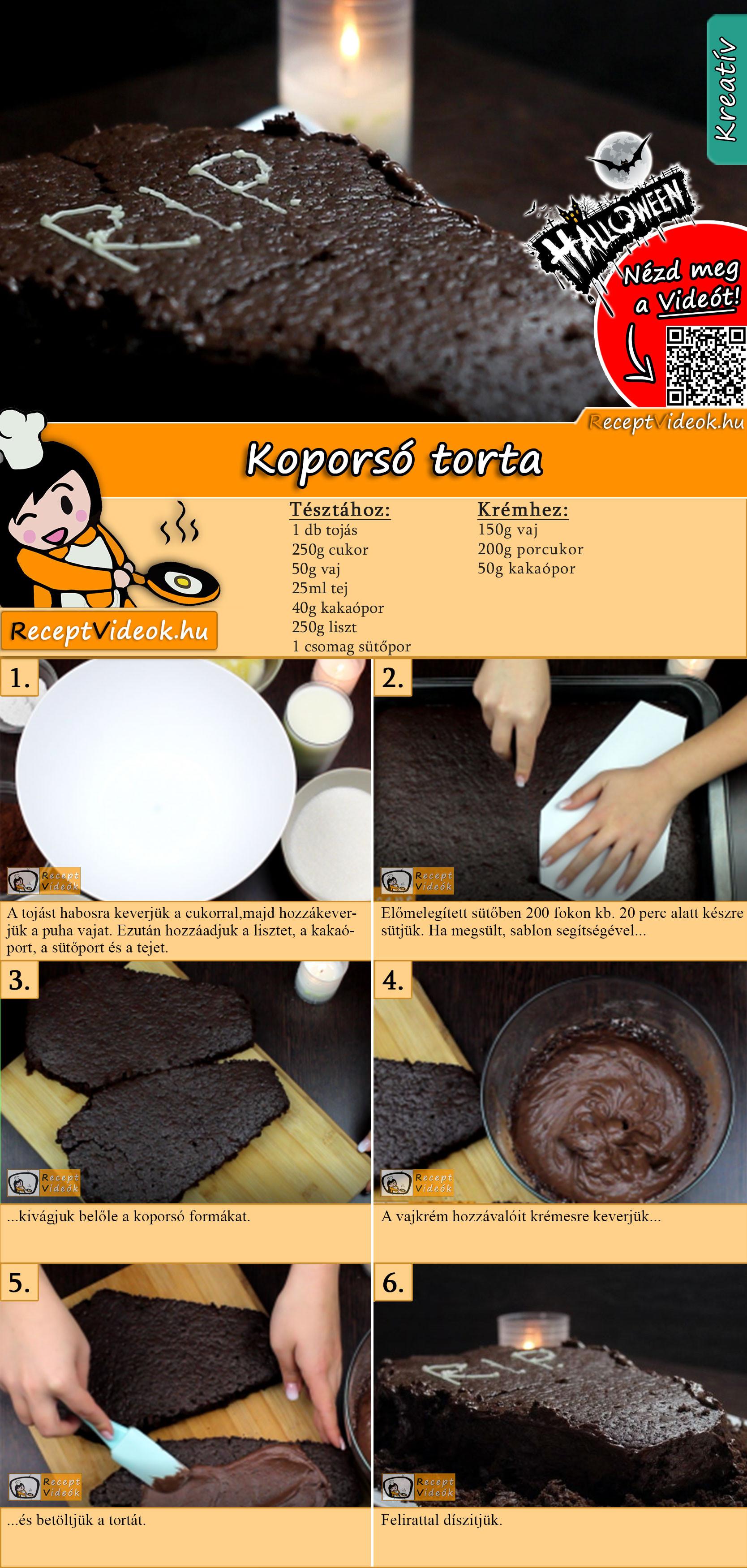Koporsó torta recept elkészítése videóval