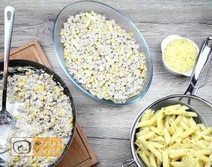 Tejszínes-kukoricás penne recept, tejszínes-kukoricás penne elkészítése 4. lépés