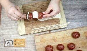 Tűzdelt húsgombócok recept elkészítése 3. lépés