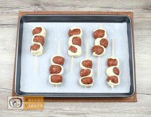 Tűzdelt húsgombócok recept elkészítése 4. lépés