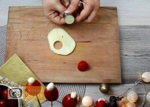Karácsonyi diy kreatív recept ötletek, asztaldíszek - Mikulás sapka 1. lépés