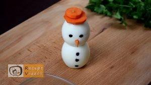 Karácsonyi diy kreatív recept ötletek, asztaldíszek - Tojáshóember 4. lépés