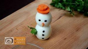 Karácsonyi diy kreatív recept ötletek, asztaldíszek - Tojáshóember 5. lépés