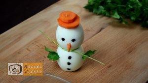 Karácsonyi diy kreatív recept ötletek, asztaldíszek - Tojáshóember - Recept Videók