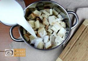Banános kenyérfelfújt recept, banános kenyérfelfújt elkészítése 1. lépés