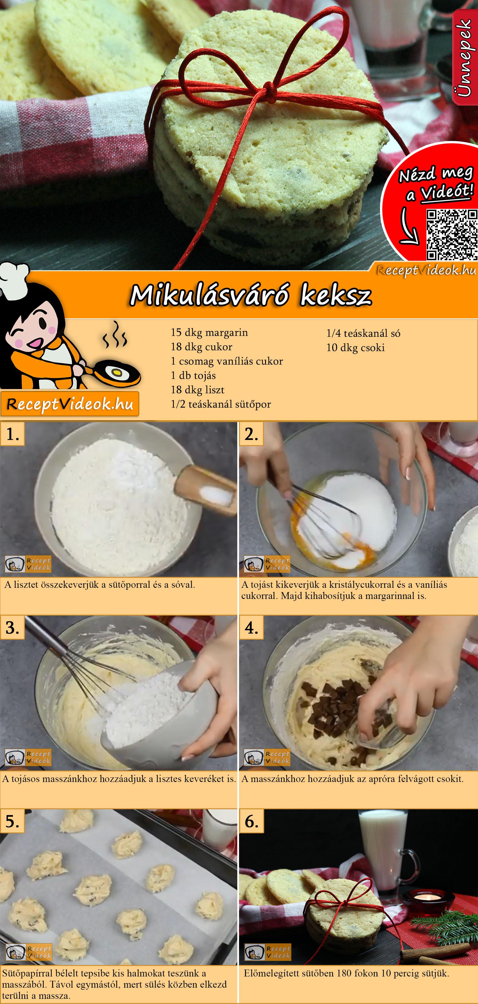 Mikulásváró keksz recept elkészítése videóval
