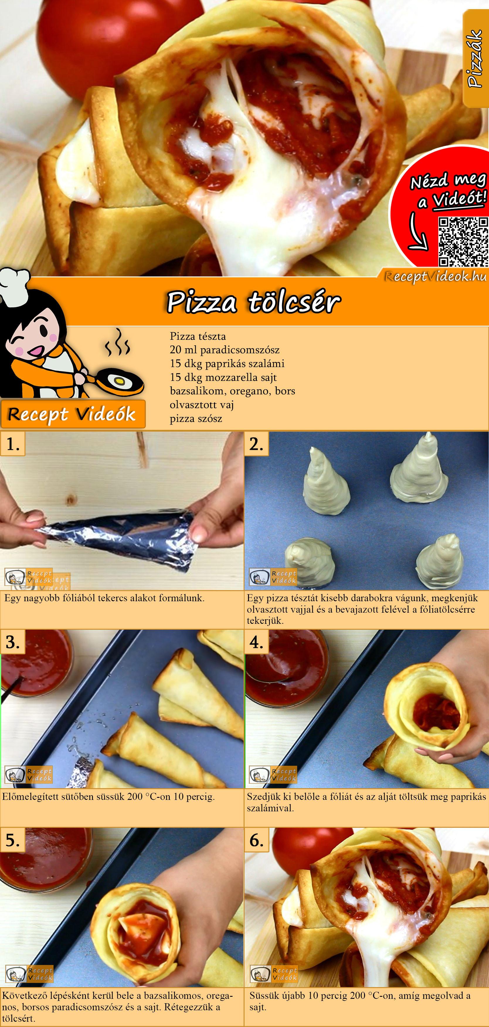 Pizza tölcsér recept elkészítése videóval
