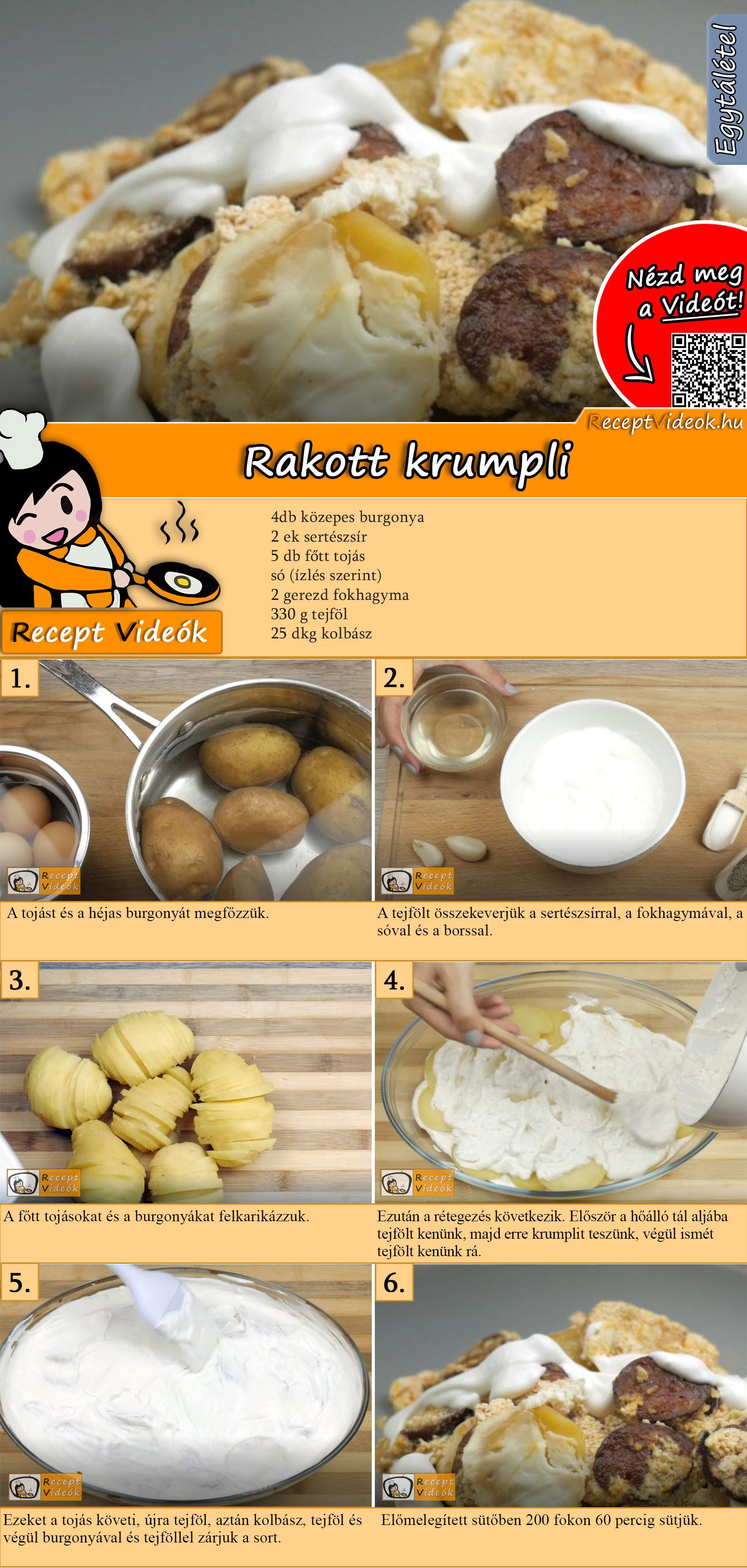Rakott krumpli recept elkészítése videóval