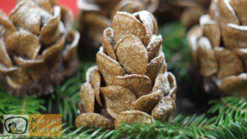Karácsonyi diy kreatív recept ötletek, asztaldíszek (Havas tobozok) - Recept Videók