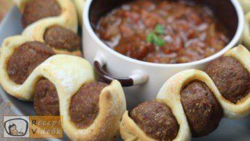 Tűzdelt húsgombócok recept elkészítése - Recept Videók