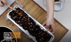 Kókuszbundás kekszszalámi recept, kókuszbundás kekszszalámi elkészítése 9. lépés