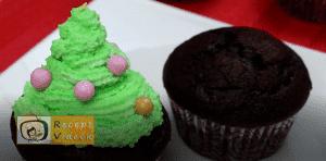 Karácsonyi diy kreatív recept ötletek - karácsonyfa és mikulás sapka muffin 9. lépés