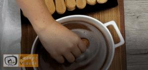 Karamellás babapiskótás szelet recept, karamellás babapiskótás szelet elkészítése 8. lépés