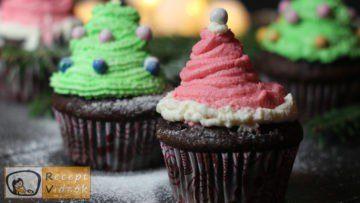 Karácsonyi diy kreatív recept ötletek - karácsonyfa és mikulás sapka muffin - Recept Videók