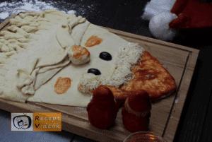 Karácsonyi diy kreatív recept ötletek, asztaldíszek - Mikulás szakáll 6. lépés