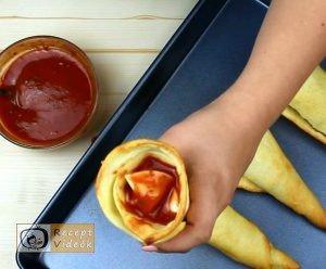 Pizza tölcsér recept, pizza tölcsér elkészítése 4. lépés