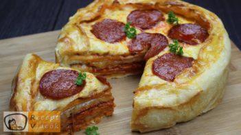 Rakott mini pizza recept, rakott mini pizza elkészítése - Recept Videók