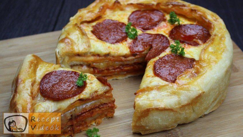 Rakott mini pizza
