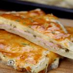 Sonkás-sajtos lepény recept, sonkás-sajtos lepény elkészítése - Recept Videók