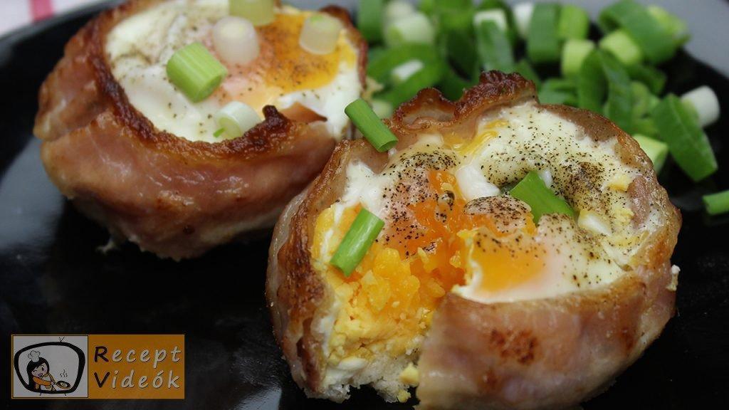 sajtos-baconös tojásmuffin recept, sajtos-baconös tojásmuffin elkészítése - Recept Videók