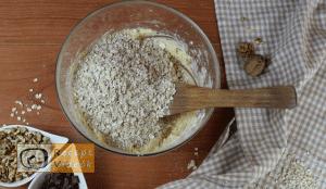 Csokis-zabpelyhes keksz recept, csokis-zabpelyhes keksz elkészítése 4. lépés