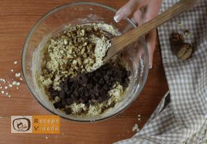 Csokis-zabpelyhes keksz recept, csokis-zabpelyhes keksz elkészítése 5. lépés