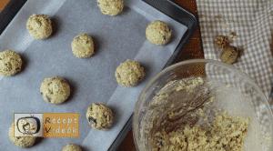 Csokis-zabpelyhes keksz recept, csokis-zabpelyhes keksz elkészítése 6. lépés