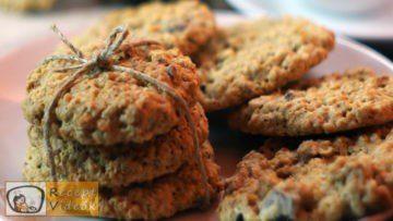 Csokis-zabpelyhes keksz recept, csokis-zabpelyhes keksz elkészítése - Recept Videók