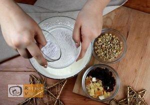 Gyümölcskenyér recept, gyümölcskenyér elkészítése 6. lépés