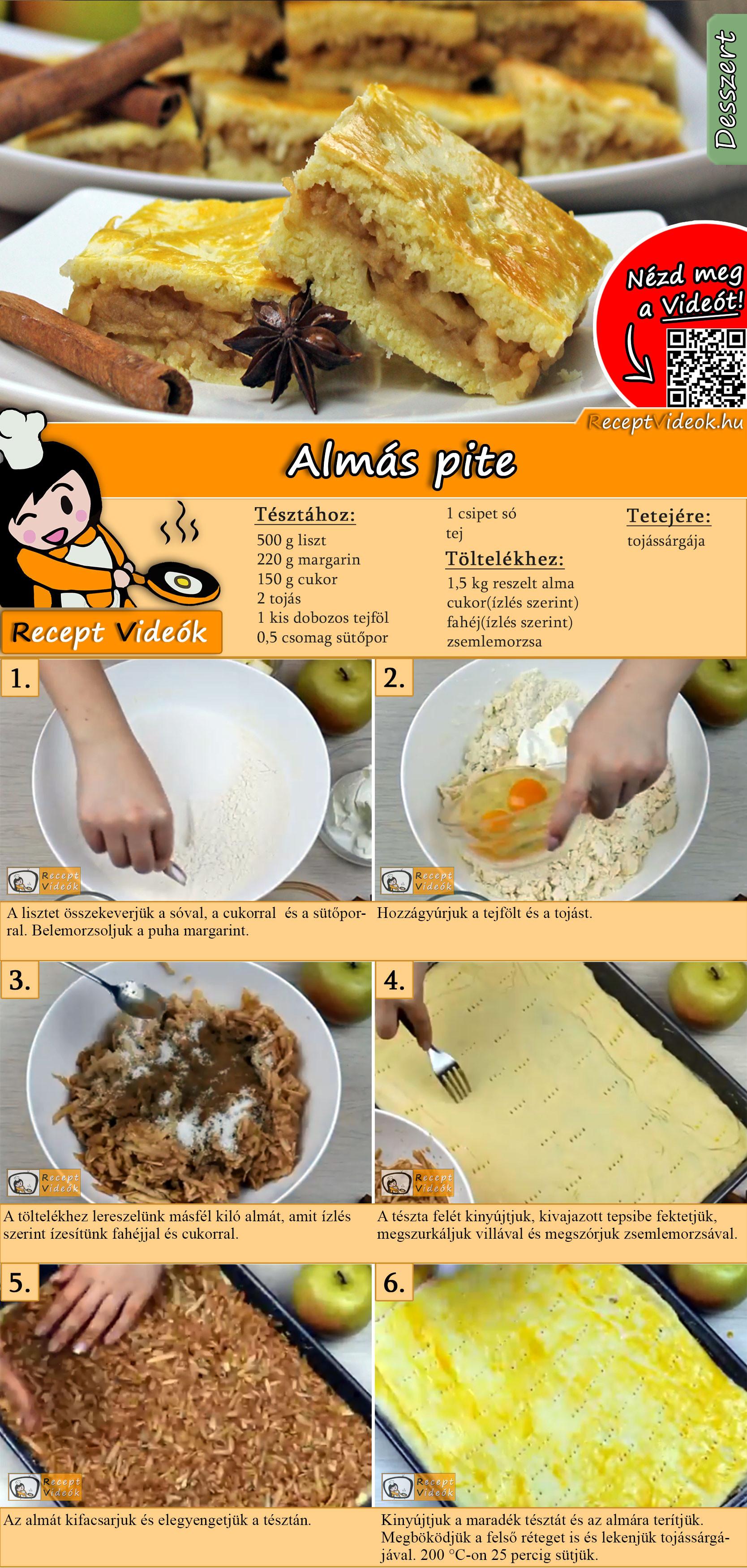 Almás pite recept elkészítése videóval