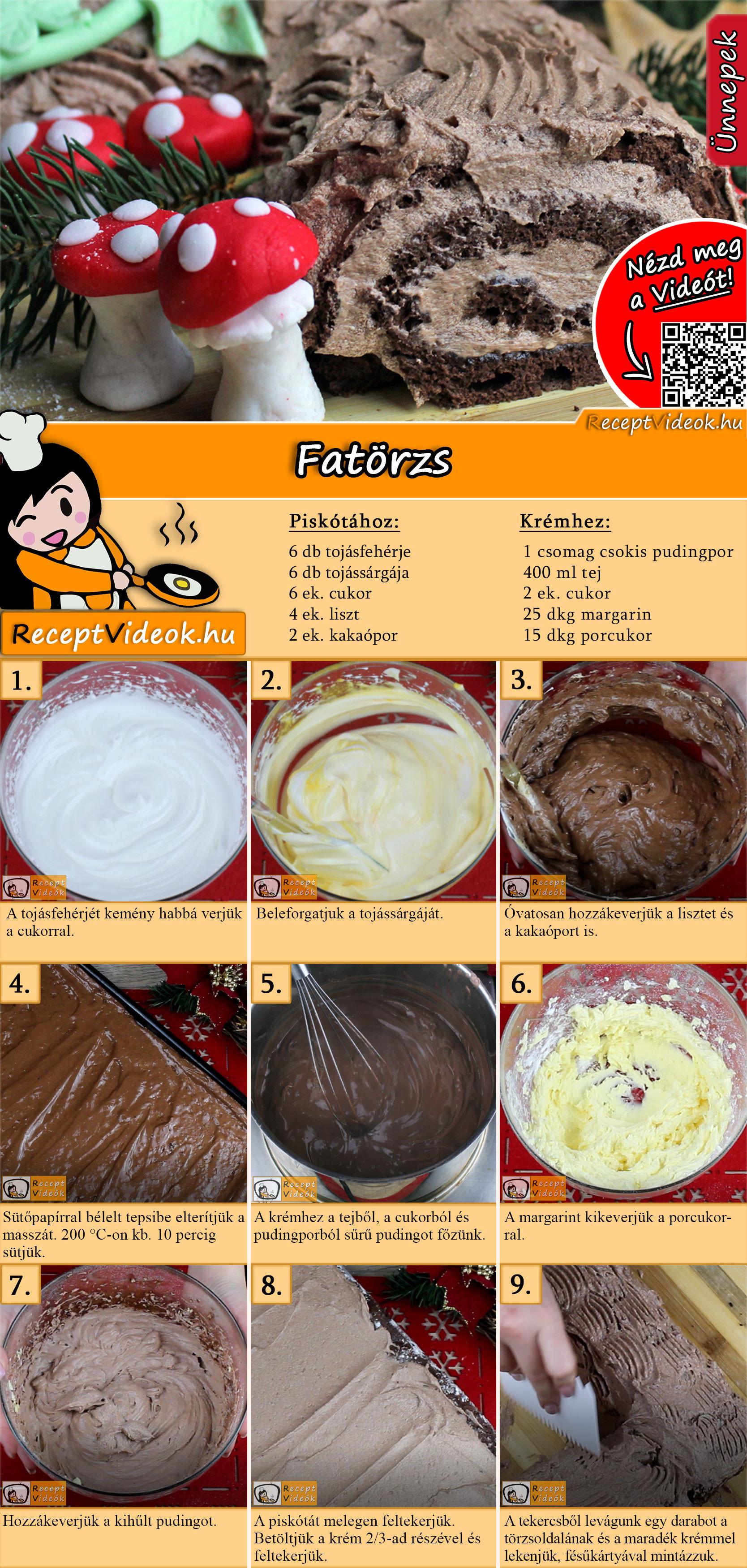 Fatörzs recept elkészítése videóval