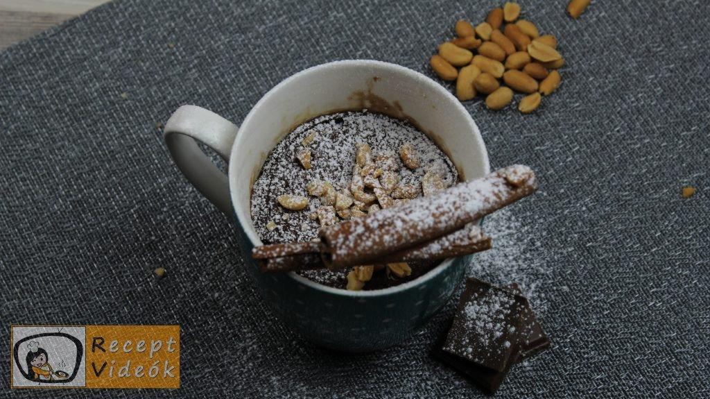 mogyorókrémes bögrés süti recept elkészítése - Recept Videók