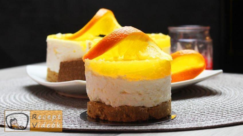 Narancsos-túrós minitorta recept elkészítése - Recept Videók