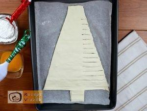 Karácsonyi diy kreatív recept ötletek - Mogyorókrémes karácsonyfa 4. lépés
