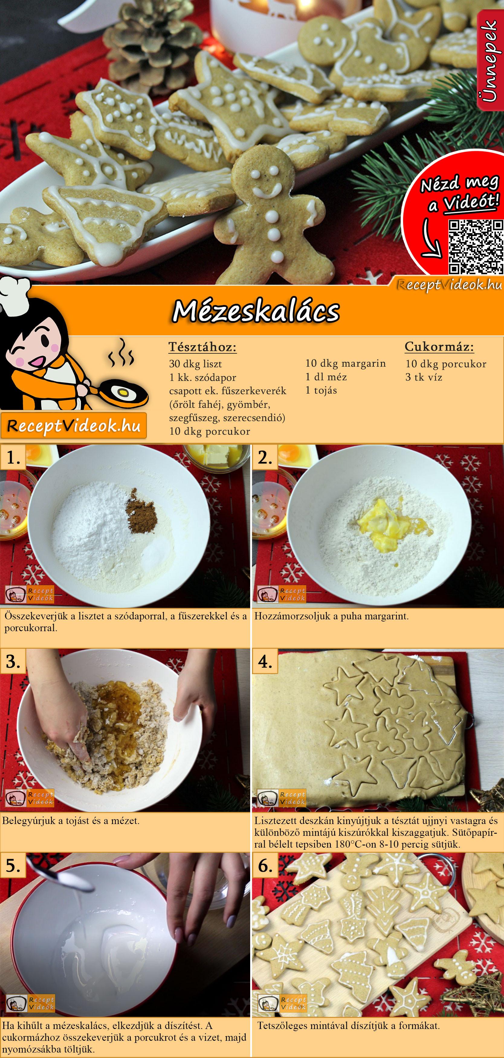 Mézeskalács recept elkészítése videóval