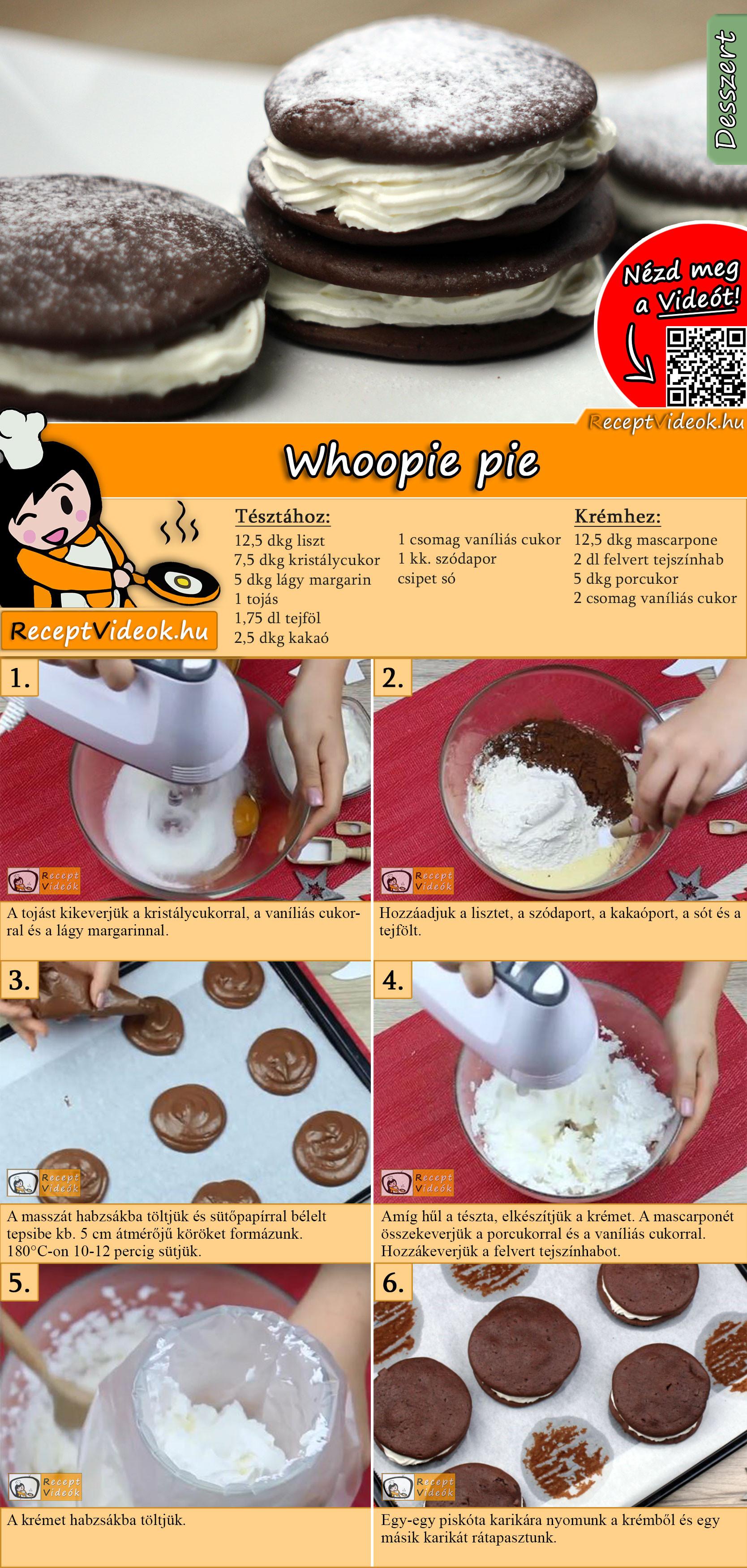 Whoopie pie recept elkészítése videóval