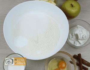 Almás pite recept, almás pite elkészítése 1. lépés