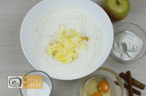 Almás pite recept, almás pite elkészítése 2. lépés