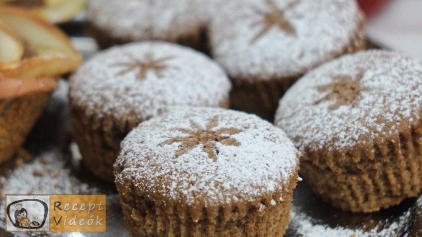 Fahéjas almás pite muffin