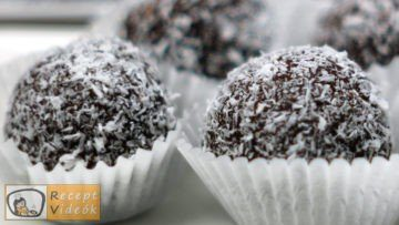 Kókuszgolyó recept, kókuszgolyó elkészítése - Recept Videók