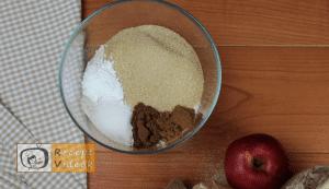 Almás pite muffin recept, almás pite muffin elkészítése 1. lépés