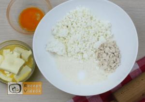 Túrós pogácsa recept, túrós pogácsa elkészítése 1. lépés
