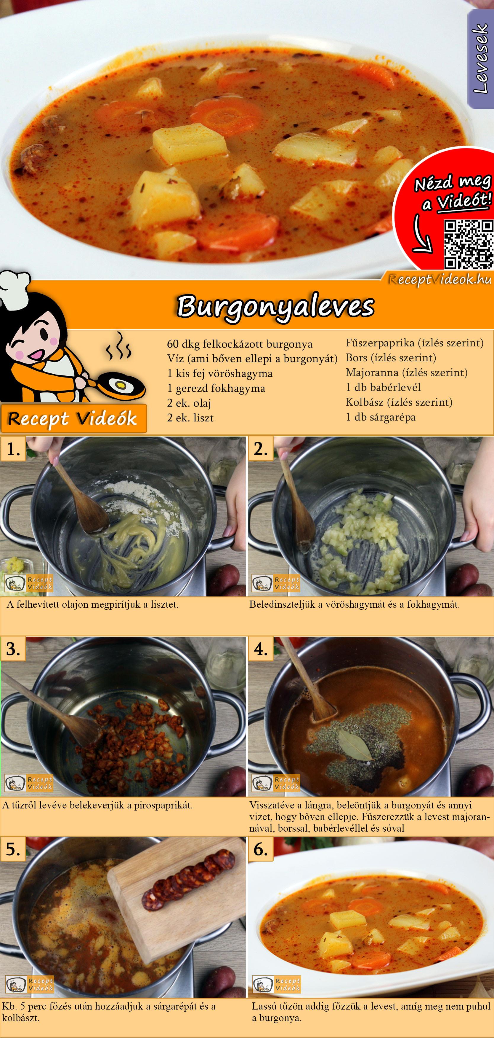 Burgonyaleves recept elkészítése videóval