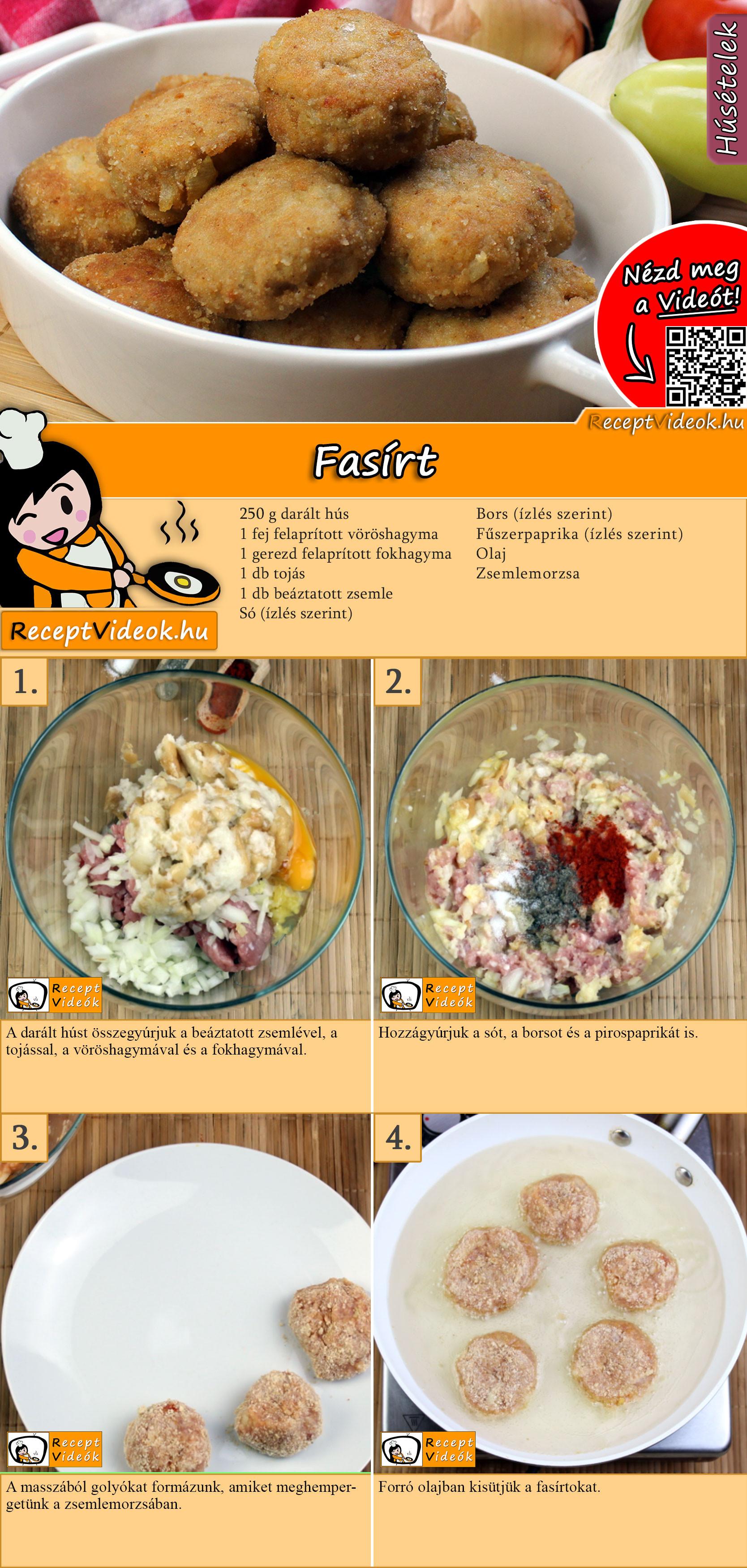 Fasírt recept elkészítése videóval