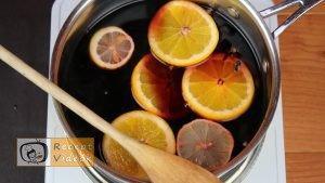 Forralt bor recept, forralt bor elkészítése 3. lépés