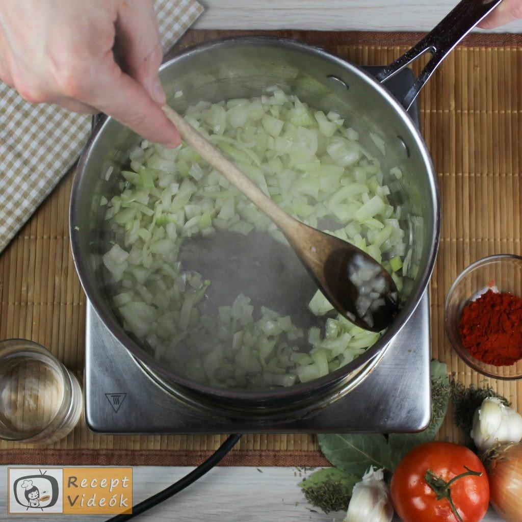 Marhapörkölt recept, marhapörkölt elkészítése 1. lépés