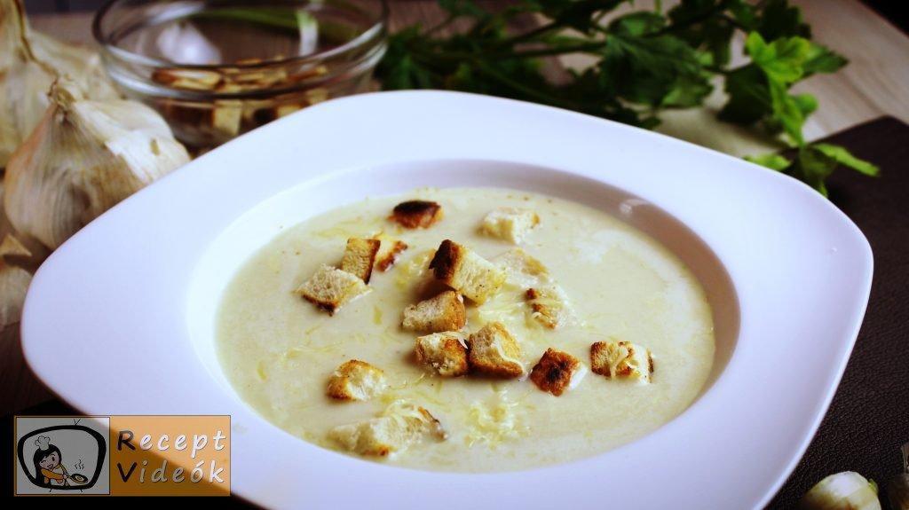 Fokhagymakrémleves recept, fokhagymakrémleves elkészítése - Recept Videók