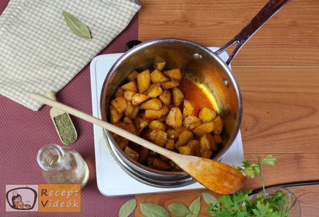 Krumplifőzelék recept, krumplifőzelék elkészítése 1. lépés