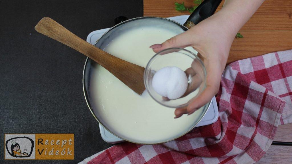Besamel mártás recept, besamel mártás elkészítése 4. lépés