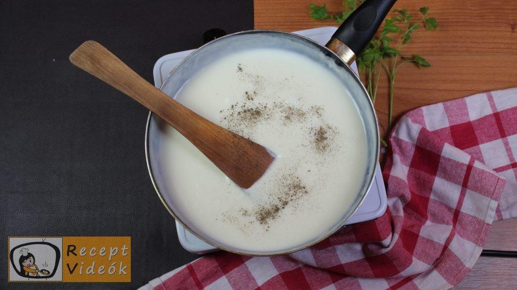 Besamel mártás recept, besamel mártás elkészítése 5. lépés
